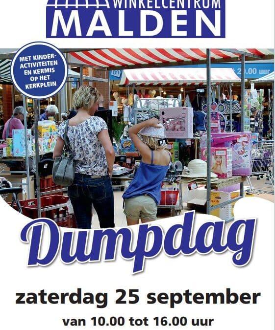 Zaterdag 25 september Dumpdag winkelcentrum Malden